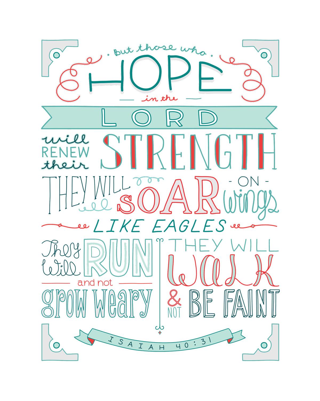 Isaiah 40 31 Emily Van Hoff